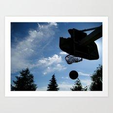 Hoop In The Wood Art Print