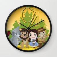oz Wall Clocks featuring Oz by 7pk2 online