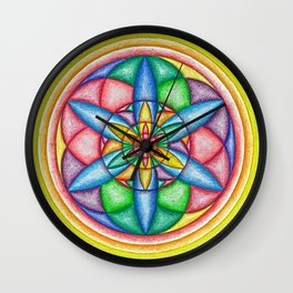 A Drop in the Rainbow Bucket - The Rainbow Tribe Collection Wall Clock