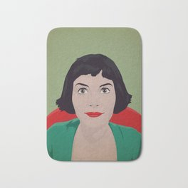 Amelie, minimalist poster, film canvas, retro framed, Audrey Tautou poster, illustration Amelie Bath Mat