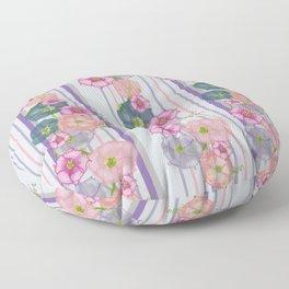 Dahlia Morning Glories Floor Pillow