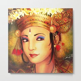 Beautiful balinese girl Metal Print