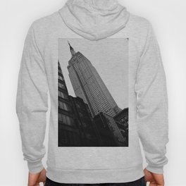 Empire State Building in Black and White Hoody