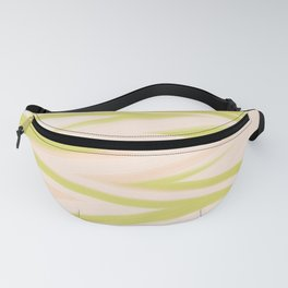 Yellow and Peach Electric Pulse Zigzag Fanny Pack