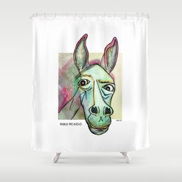 Pablo Pic-Ass-O Shower Curtain