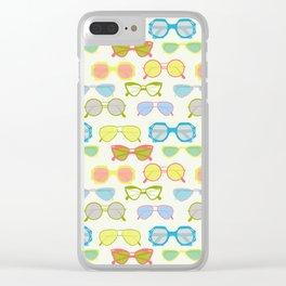 Summer sunglasses Clear iPhone Case