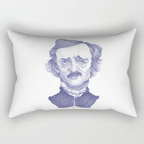 Edgar Allan Poe illustration Rectangular Pillow