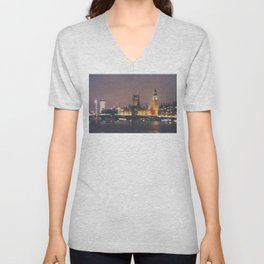 down by the thames ... Unisex V-Neck
