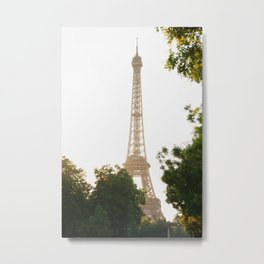Eiffel Tower, Sunset Metal Print