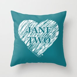 Heart Jane Two Throw Pillow