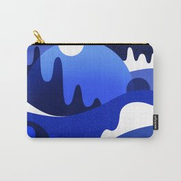 Terrazzo landscape blue night Carry-All Pouch