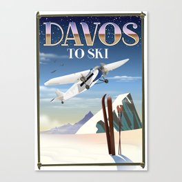 Davos ski poster Canvas Print