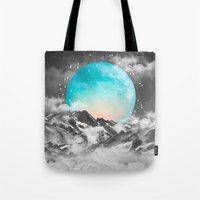 mountain Tote Bags featuring It Seemed To Chase the Darkness Away by soaring anchor designs