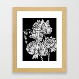 Black Fluttering Ink II Framed Art Print