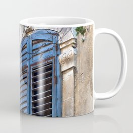 Blue Sicilian Door on the Balcony Coffee Mug