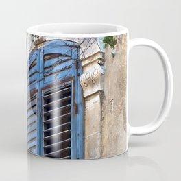 Blue Sicilian Door on the Balcony Coffee Mug