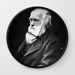 Charles Darwin Portrait Wall Clock