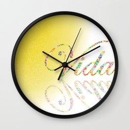 Typography in design. Illustrator. Inspired by Frida Kahlo Wall Clock