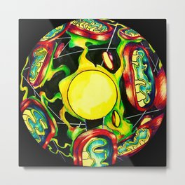 mitochondria plasma ball Metal Print