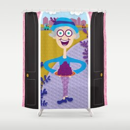 A Knock at the Door Shower Curtain