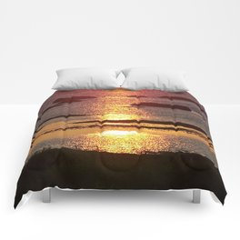 Sunset Reflected Comforters