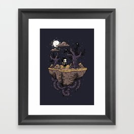 Dark Wood Framed Art Print