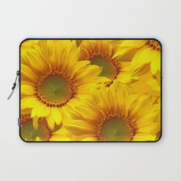 Yellow Mellow Sunflower Bouquet #decor #society6 #buyart Laptop Sleeve