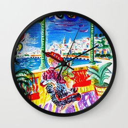 Vintage Menton France Travel Wall Clock