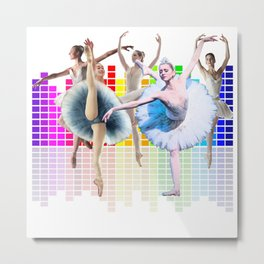 ballerina Equalizer Dancer Metal Print