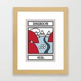 Dingboche Framed Art Print