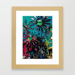 The blue lagon Framed Art Print
