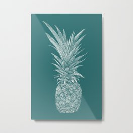 Pineapple : Le Canard Metal Print