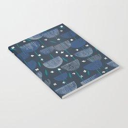 Botanical Block Print M+M Navy by Friztin Notebook