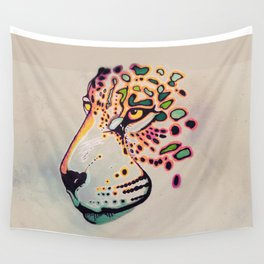 Fractal Jaguar Wall Tapestry