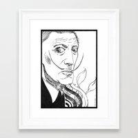 salvador dali Framed Art Prints featuring Salvador Dali by Andrea Maiorana