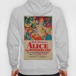 1951 Vintage Alice in Wonderland US Market Film Movie Poster Hoody