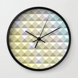 Light Khaki Yellow Abstract Low Polygon Background Wall Clock