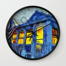 Lazy Days Summer Cottage Wall Clock