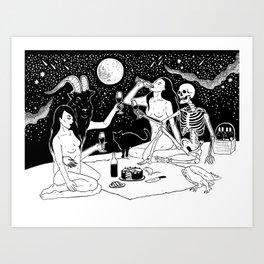 Dark Picnic Art Print