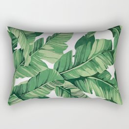 Tropical banana leaves VI Rectangular Pillow