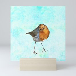 Robin -The visitor Mini Art Print