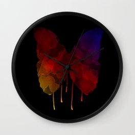 Dripping Butterfly 2 Wall Clock
