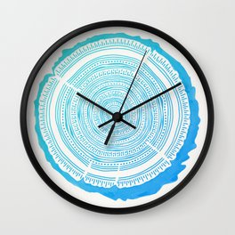 Douglas Fir – Blue Ombré Wall Clock