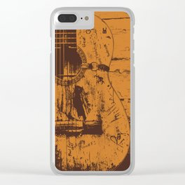 Trigger - Acoustic Guitar - Willie Nelson Clear iPhone Case