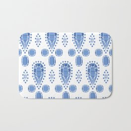 Gems Pattern, Light Blue Bath Mat