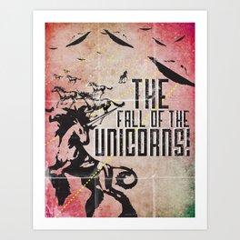 The End of the Unicorns Art Print
