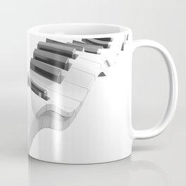 Keyboard of a piano waving on white background - 3D rendering Coffee Mug