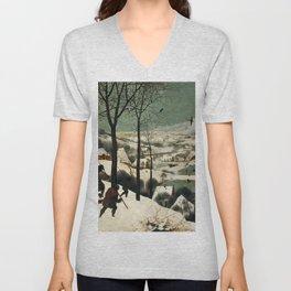The Hunters in the Snow - Pieter Bruegel the Elder Unisex V-Neck