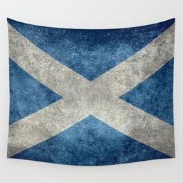 Scottish Flag - Vintage Retro Style Wall Tapestry