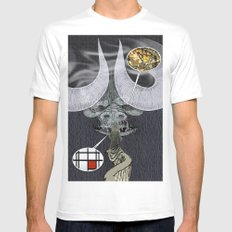 Order & Chaos MEDIUM Mens Fitted Tee White